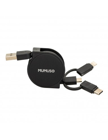 3 IN 1 RETRACTABLE USB CABLE (BLACK)