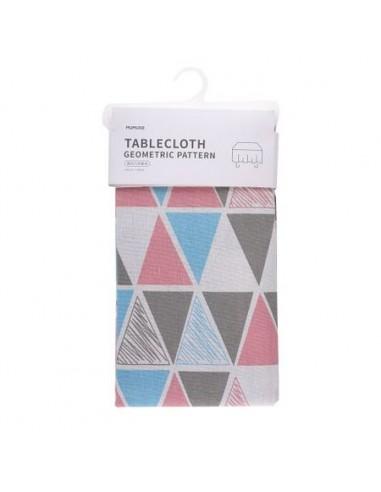 TABLECLOTH (GEOMETRIC PATTERN/PINK)