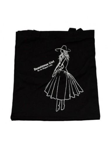 FASHION GIRL TOTE BAG (BLACK)